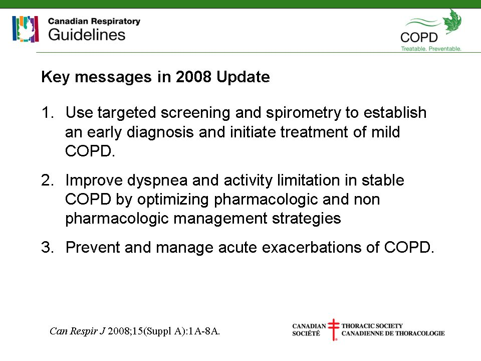 Key Messages in 2008 Update