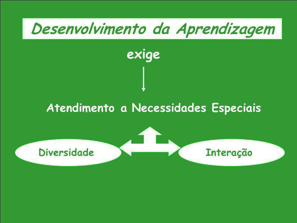 Atendimento a Necessidades Especiais exige InteraçãoDiversidade Desenvolvimento da Aprendizagem