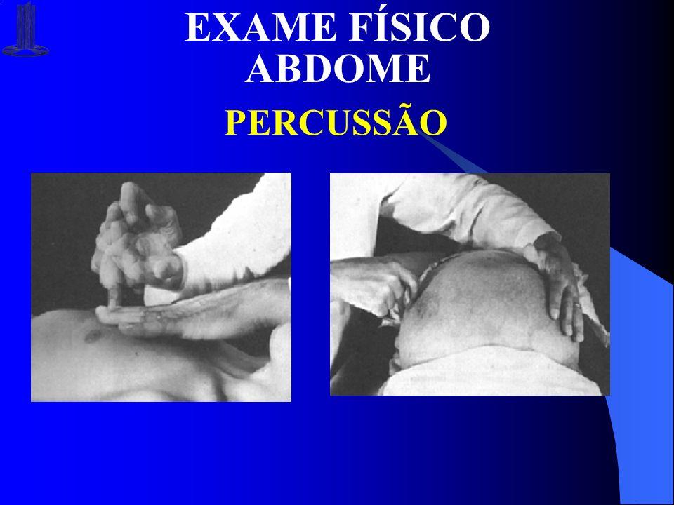 EXAME FÍSICO ABDOME PERCUSSÃO