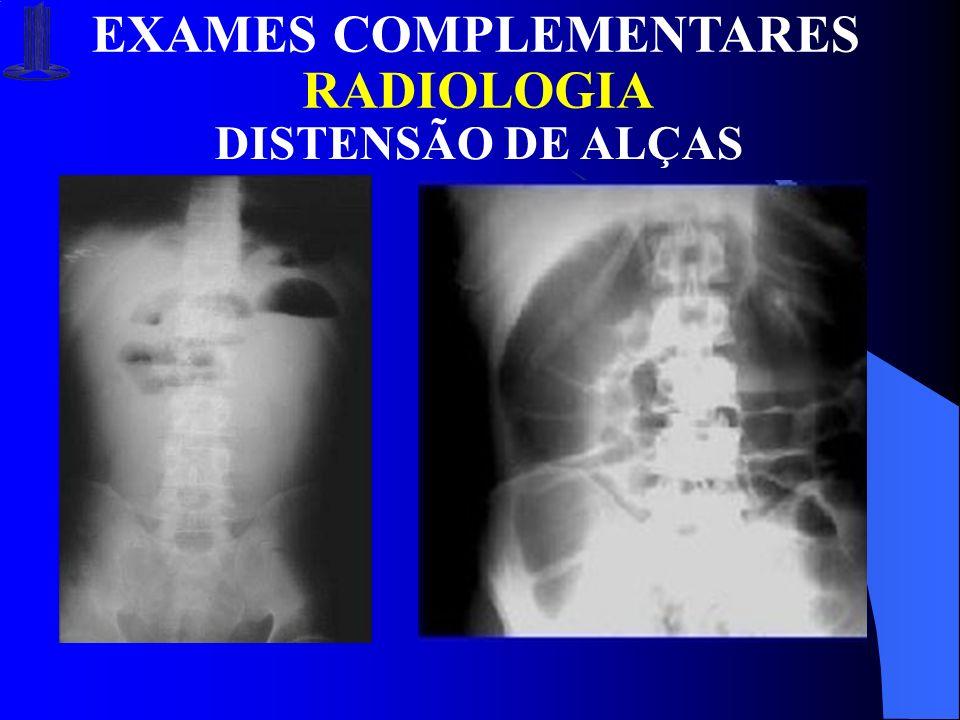 RADIOLOGIA EXAMES COMPLEMENTARES DISTENSÃO DE ALÇAS