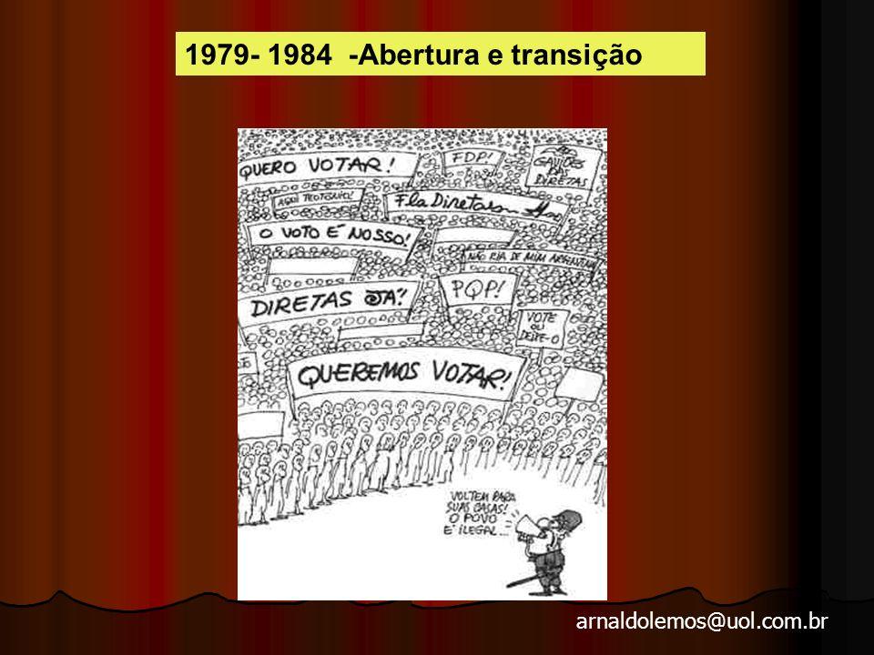 arnaldolemos@uol.com.br Crise política A repressão se empenha para desarticular a guerrilha urbana, prendendo, matando e torturando.