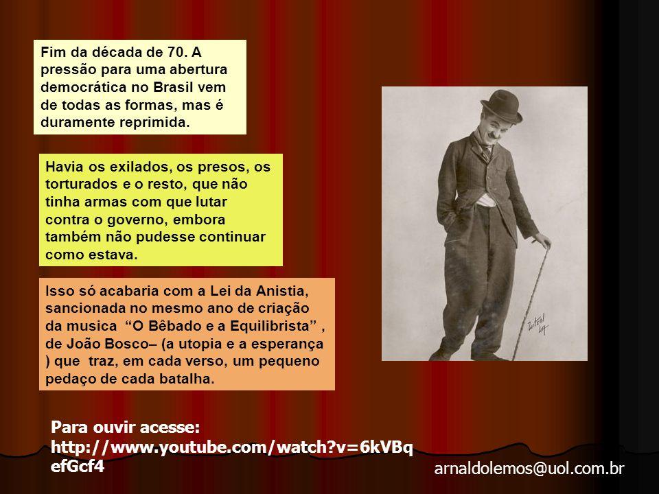 arnaldolemos@uol.com.br 1979 : Anistia – movimento de toda a sociedade civil Crise política
