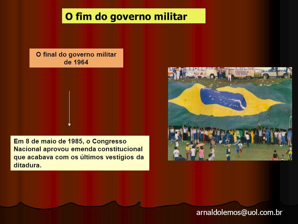 arnaldolemos@uol.com.br 1984 Crise política Diretas Já MST 1985 Eleição de Tancredo Neves