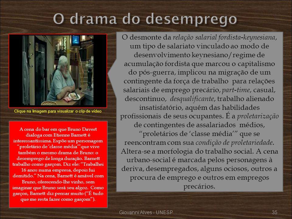 Giovanni Alves - UNESP35 O desmonte da relação salarial fordista-keynesiana, um tipo de salariato vinculado ao modo de desenvolvimento keynesiano/regi