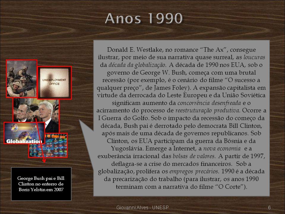 Giovanni Alves - UNESP57 não Quinlan, o terapeuta, instiga Bruno a ver a situação de desempregado como uma oportunidade de vida, isto é, encarar a situação com uma atitude positiva.