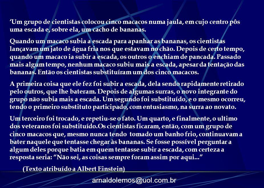 arnaldolemos@uol.com.br Transição : Fatores Intelectuais Discurso sobre o método, de Descartes (1596/1650), afirmando que para conhecer a verdade é preciso inicialmente colocarmos todos os nossos conhecimento em dúvida: se eu duvido, eu penso, penso, logo existo.