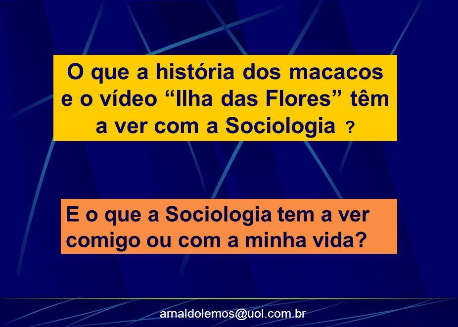arnaldolemos@uol.com.br A Sociologia se debruça sobre fenômenos sociais que nos afetam em nosso dia a dia.
