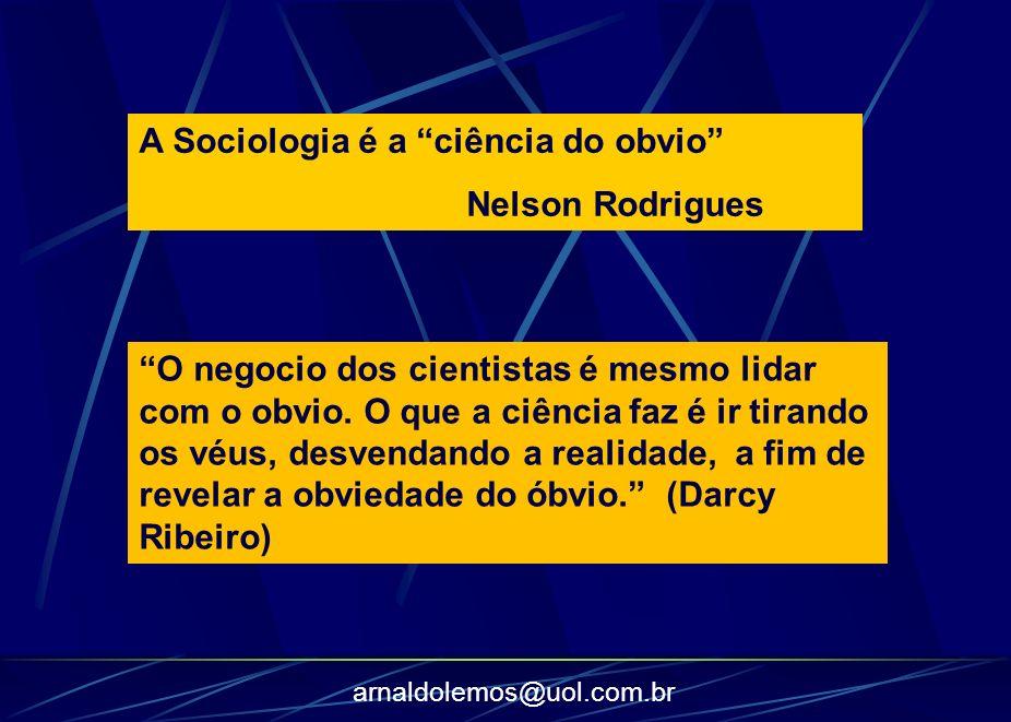arnaldolemos@uol.com.br O negocio dos cientistas é mesmo lidar com o obvio. O que a ciência faz é ir tirando os véus, desvendando a realidade, a fim d