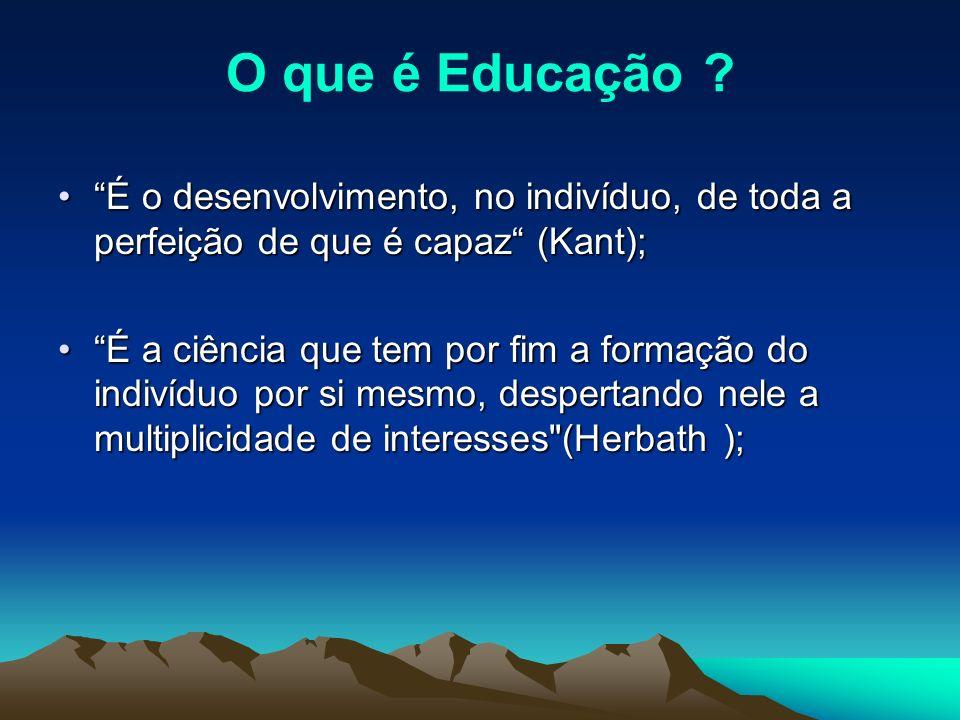 O que é Educação .