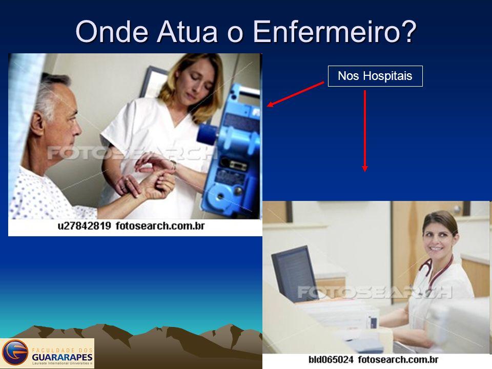 Onde Atua o Enfermeiro? Nos Hospitais
