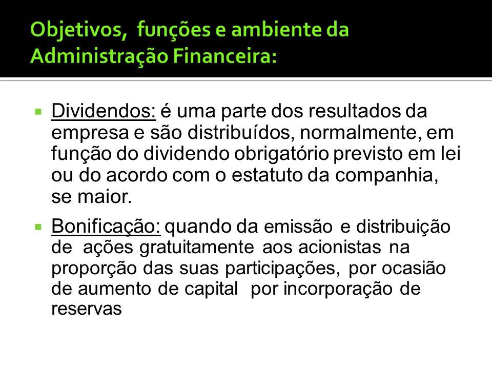 Ações Preferenciais: tem características duplas, de um título de dívida e de uma ação ordinária, tem a preferência na distribuição dos dividendos, tam
