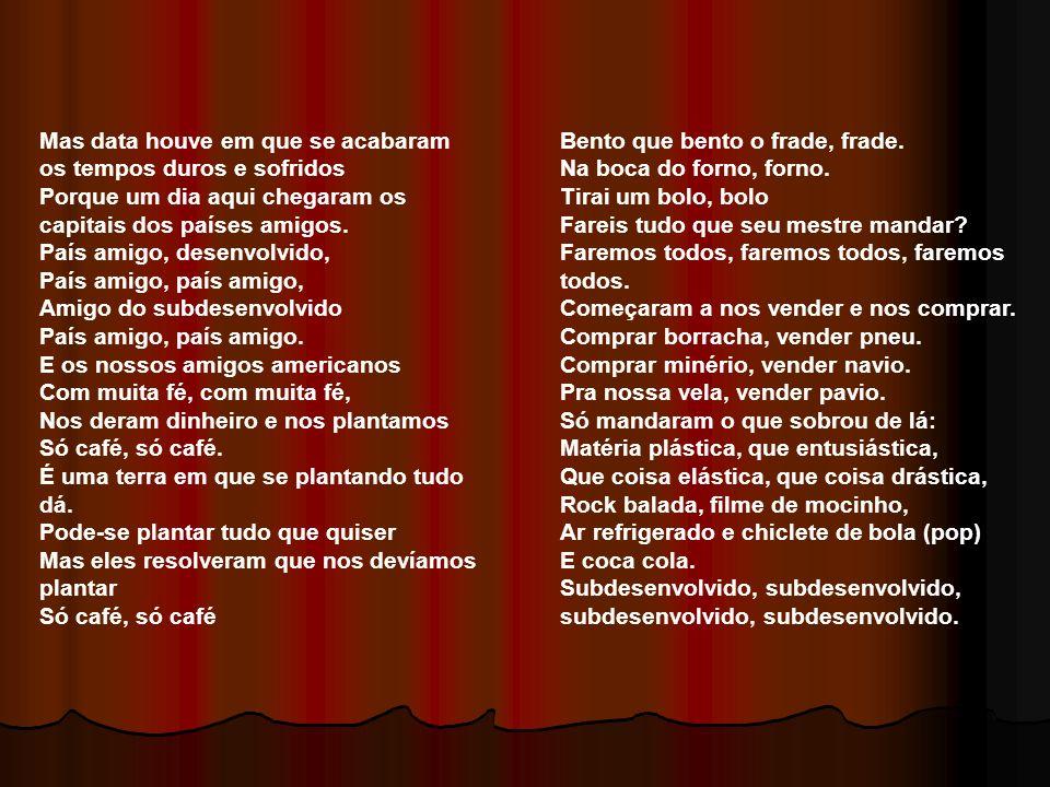 1969 Operação Bandeirante (OBAN) Sequestro do Embaixador Americano [colocaria: estadunidense ou dos EUA] Esquadrão da Morte Assassinato de Marighela (ALN) 1970 Guerrilhas contra o regime militar espalham-se na cidade e no campo Copa do Mundo Veja o vídeo sobre a Guerrilha do Araguaia: http://www.youtube.com/watch?v=dOyVzikahnk&f eature=related