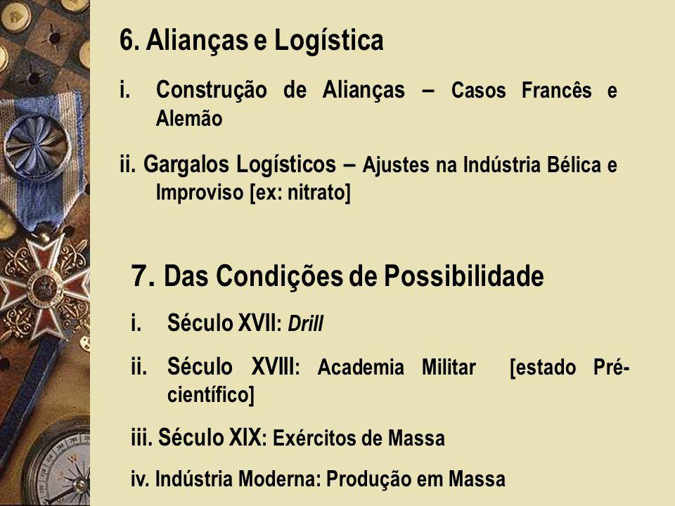 6.Alianças e Logística i.Construção de Alianças – Casos Francês e Alemão ii.