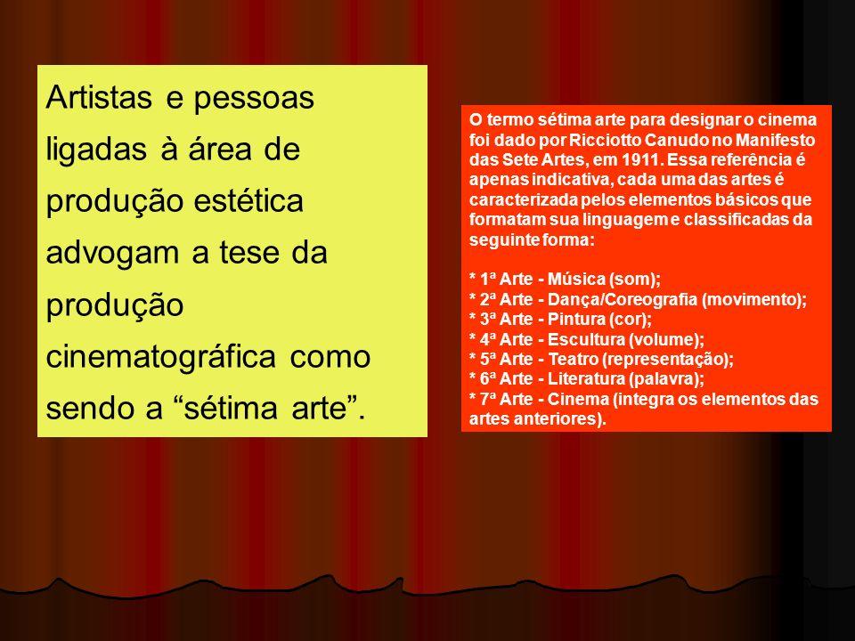Artistas e pessoas ligadas à área de produção estética advogam a tese da produção cinematográfica como sendo a sétima arte. O termo sétima arte para d