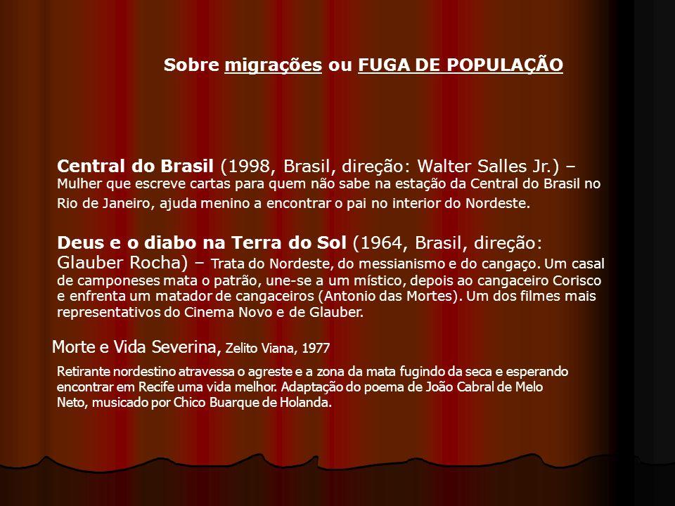 Central do Brasil (1998, Brasil, direção: Walter Salles Jr.) – Mulher que escreve cartas para quem não sabe na estação da Central do Brasil no Rio de