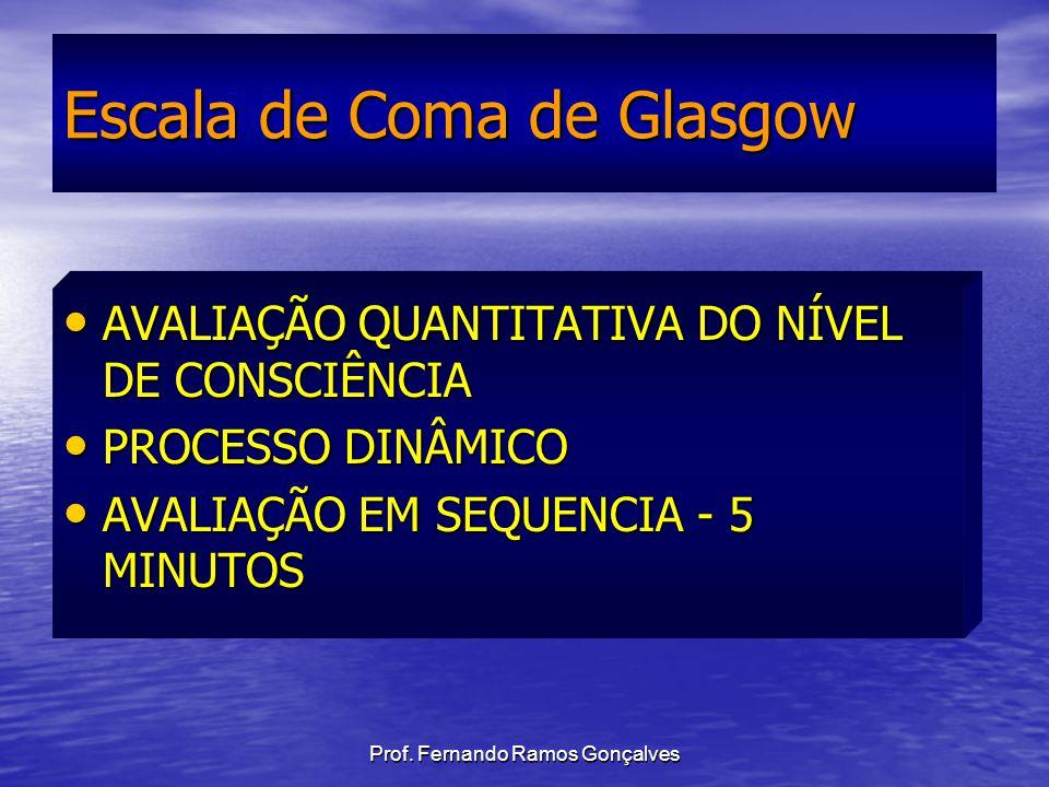 Prof. Fernando Ramos Gonçalves AVALIAÇÃO QUANTITATIVA DO NÍVEL DE CONSCIÊNCIA AVALIAÇÃO QUANTITATIVA DO NÍVEL DE CONSCIÊNCIA PROCESSO DINÂMICO PROCESS