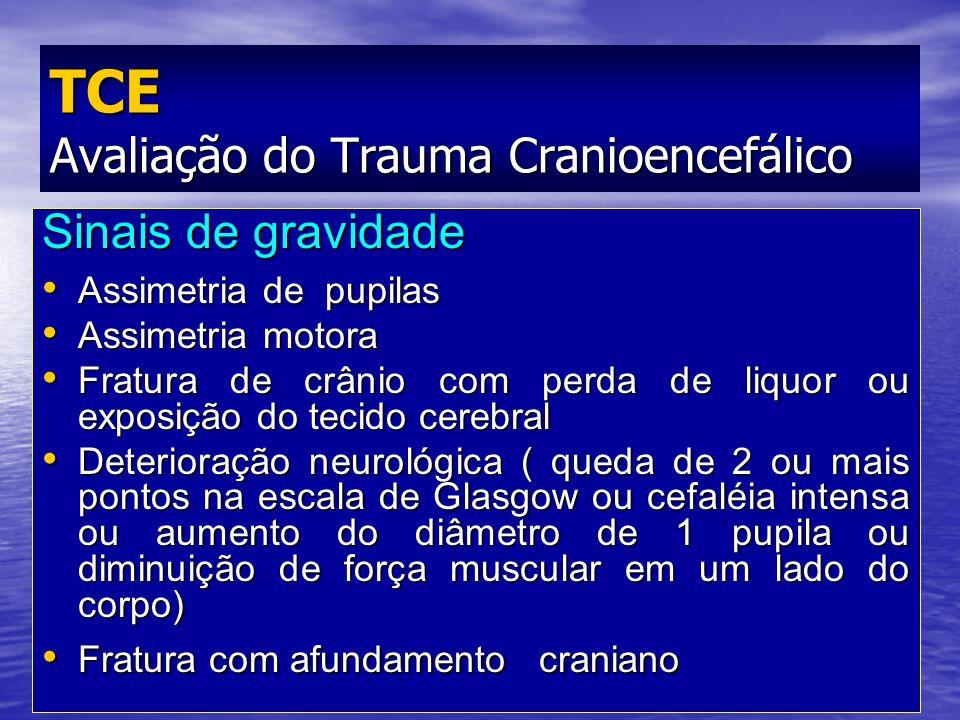Prof. Fernando Ramos Gonçalves Sinais de gravidade Assimetria de pupilas Assimetria de pupilas Assimetria motora Assimetria motora Fratura de crânio c