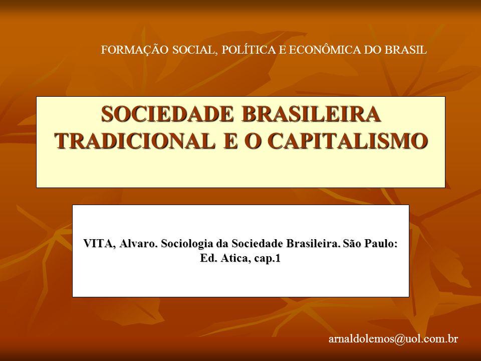 arnaldolemos@uol.com.br SOCIEDADE BRASILEIRA TRADICIONAL E O CAPITALISMO VITA, Alvaro.