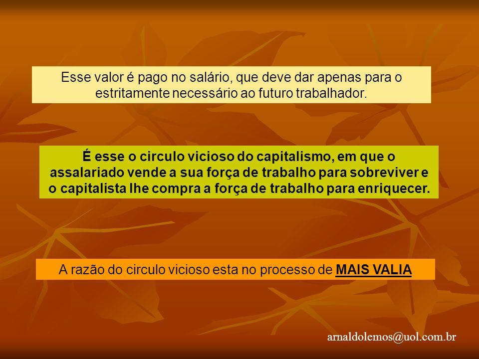 arnaldolemos@uol.com.br Esse valor é pago no salário, que deve dar apenas para o estritamente necessário ao futuro trabalhador.