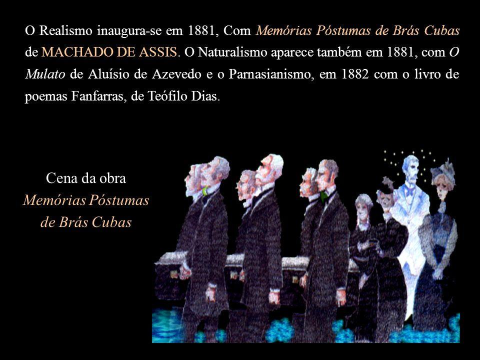 Machado de Assis é o grande representante do Realismo no Brasil e considerado o O analista da alma humana.