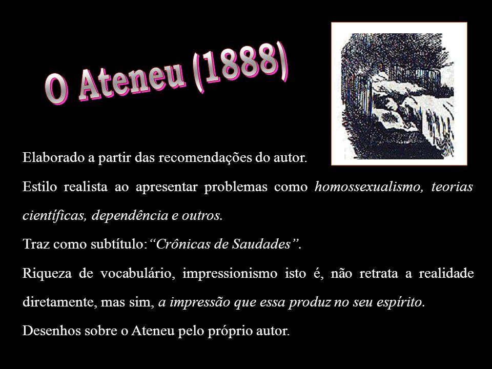 Resumo da Obra: Sérgio é recebido por Aristarco, diretor do colégio, retratado por vários aspectos negativos; casado com D.