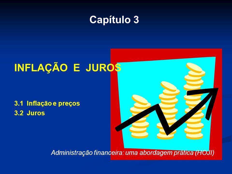 Capítulo 3 INFLAÇÃO E JUROS 3.1 Inflação e preços 3.2 Juros Administração financeira: uma abordagem prática (HOJI)