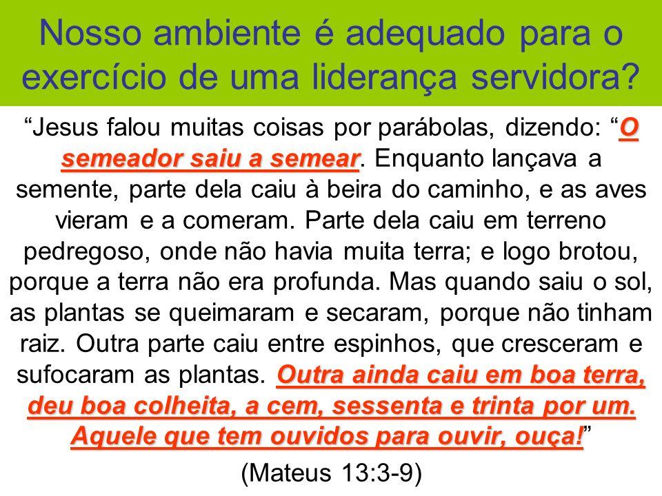 Aprendamos com a natureza criada por Deus: Aprendamos com a natureza criada por Deus: não basta semear...