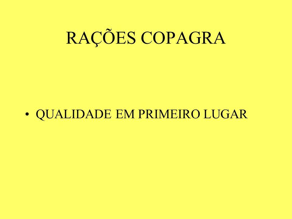 RAÇÕES COPAGRA QUALIDADE EM PRIMEIRO LUGAR