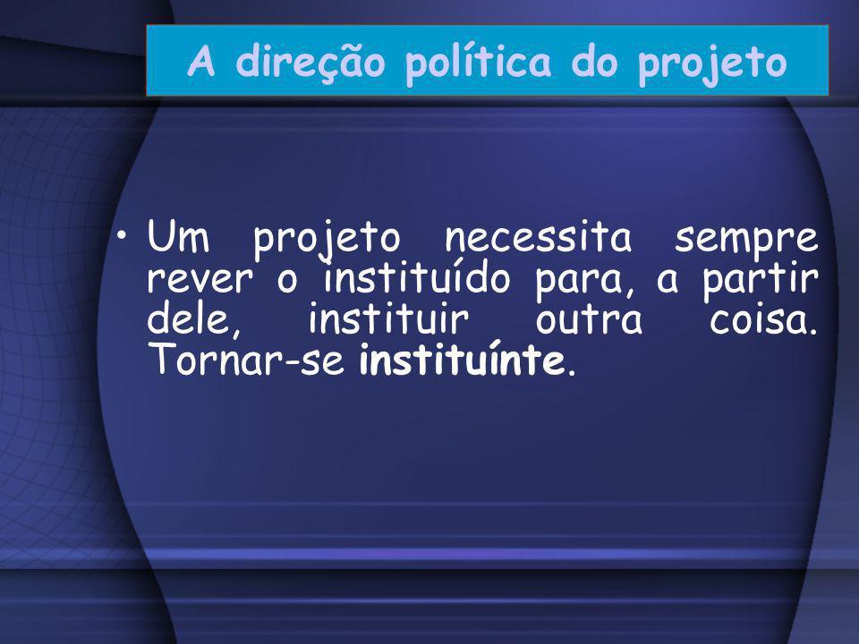 Projeto Político-Pedagógico... Lançamo-nos para diante, com base no que temos, buscando o possível. Nessa perspectiva, o projeto político- pedagógico