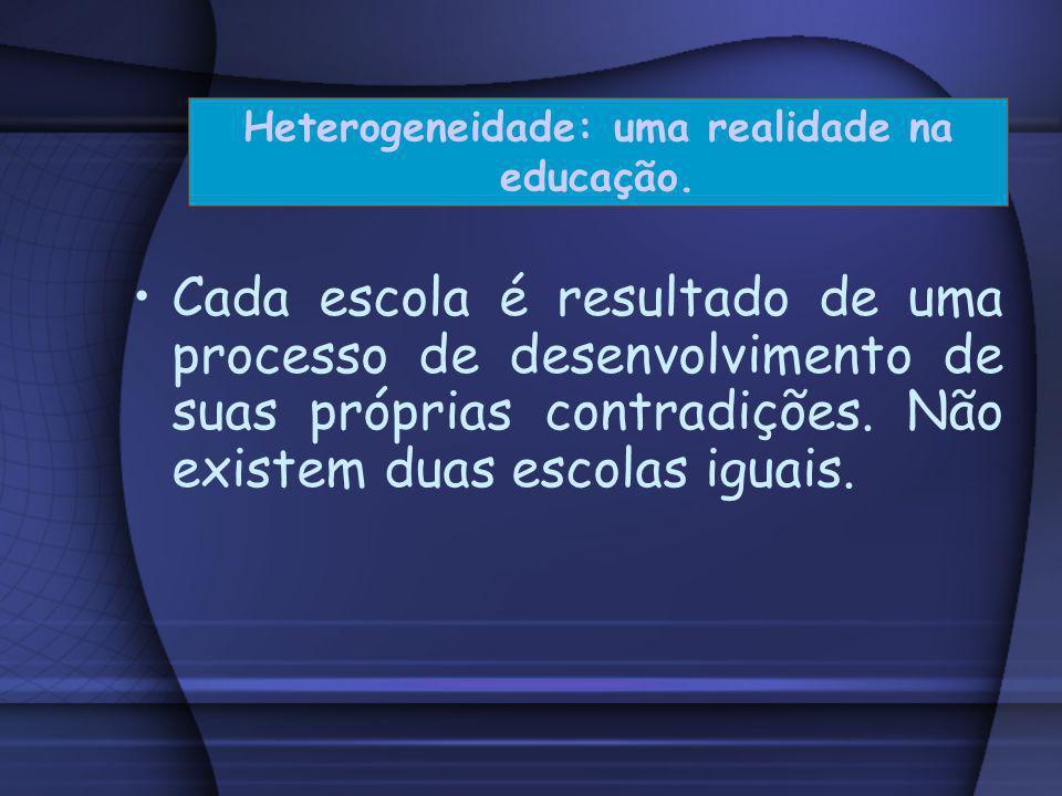 O projeto pedagógico da escola é, por isso mesmo, sempre um processo inconcluso, uma etapa em direção a uma finalidade que permanece como horizonte da