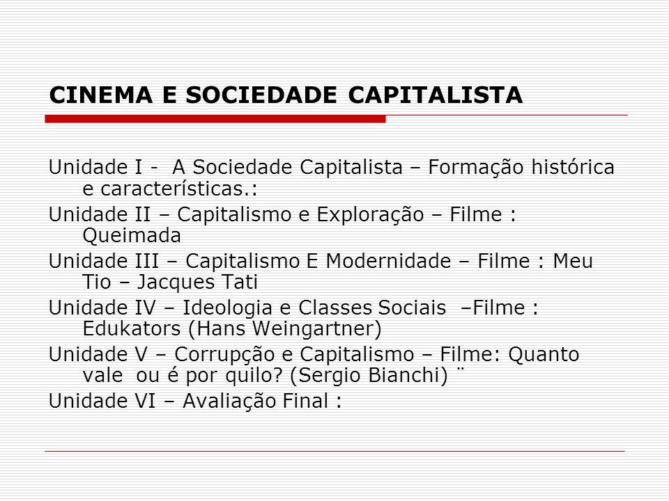 CINEMA E SOCIEDADE CAPITALISTA Unidade I - A Sociedade Capitalista – Formação histórica e características.: Unidade II – Capitalismo e Exploração – Fi