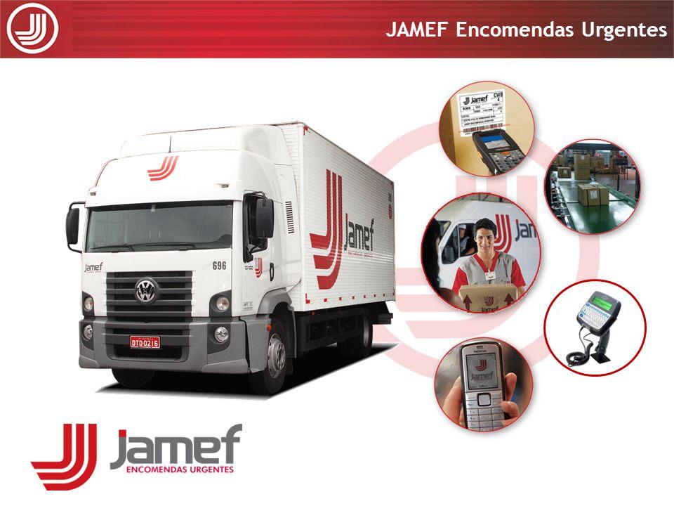Apresentação 2008 JAMEF Encomendas Urgentes Apresentação 2008 JAMEF Encomendas Urgentes Características: 1.Rastreadores instalados nos semi-reboques; 2.Autonomia de 15 dias sem recarga de bateria; Objetivo: 1.Monitoramento redundante da carga em viagem; 2.Diminuição do risco das operações de transferência; 3.Utilização do posicionamento das carretas para monitoramento logístico.