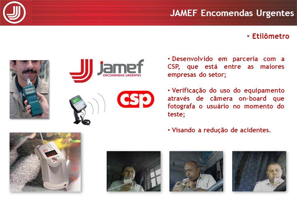 Apresentação 2008 JAMEF Encomendas Urgentes Apresentação 2008 JAMEF Encomendas Urgentes Desenvolvido em parceria com a CSP, que está entre as maiores