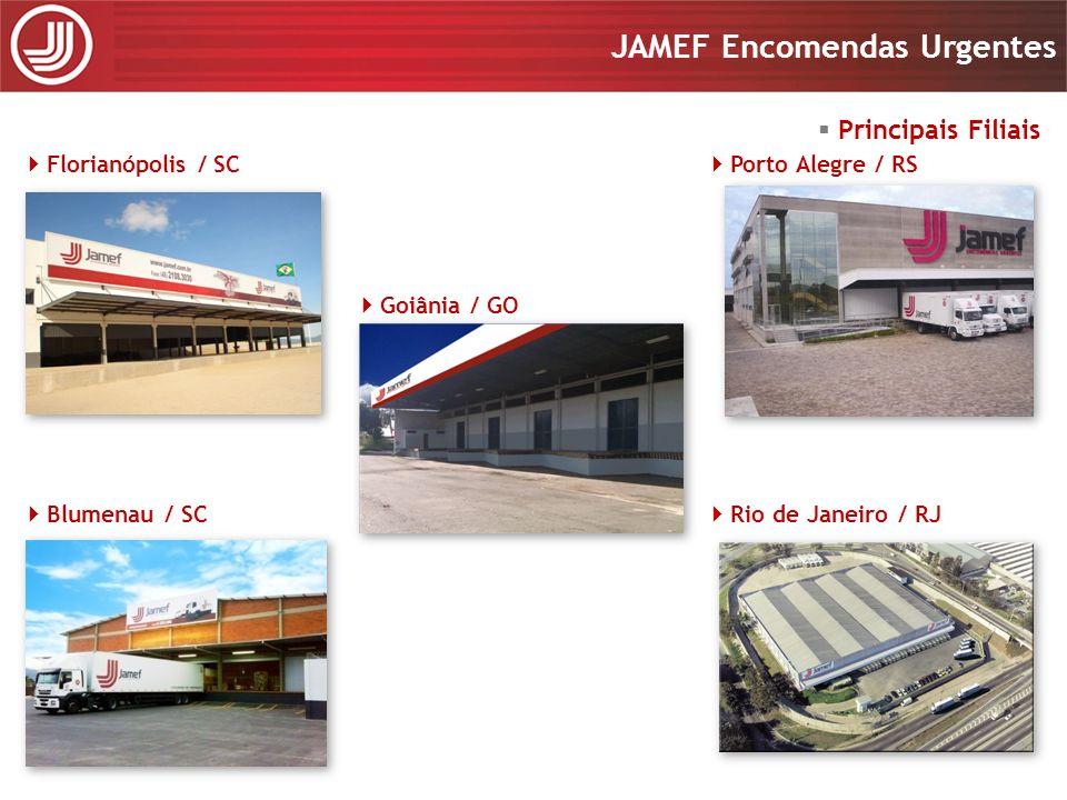 Apresentação 2008 JAMEF Encomendas Urgentes Apresentação 2008 JAMEF Encomendas Urgentes Uberlândia / MG São Paulo / SP Barueri / SP Vitória / ES Ribeirão Preto / SP Principais Filiais