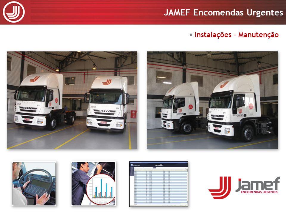 Apresentação 2008 JAMEF Encomendas Urgentes Apresentação 2008 JAMEF Encomendas Urgentes Gerenciamento de Riscos Central de Monitoramento 24 horas, 7 dias por semana; Rastreamento de 100% da frota com tecnologia GPRS, GSM e Satelital; Homologada pelas principais seguradoras.