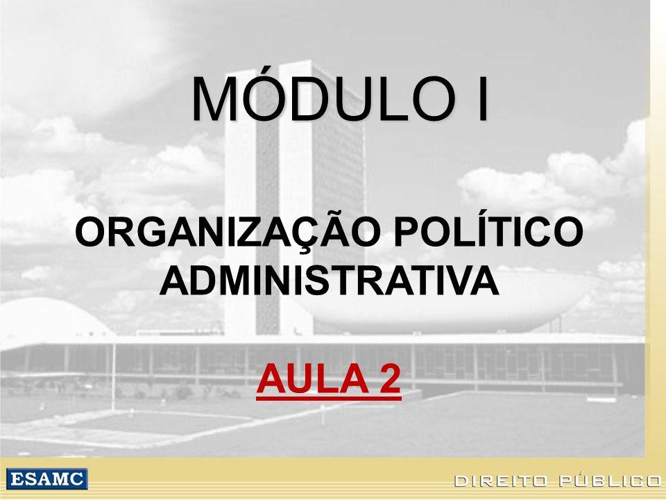 MÓDULO I ORGANIZAÇÃO POLÍTICO ADMINISTRATIVA AULA 2