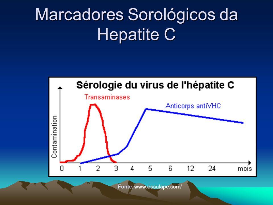 Marcadores Sorológicos da Hepatite C Fonte: www.esculape.com/
