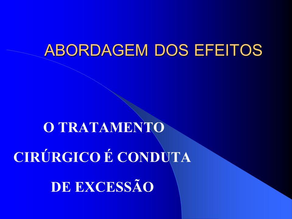 ABORDAGEM DOS EFEITOS O TRATAMENTO CIRÚRGICO É CONDUTA DE EXCESSÃO