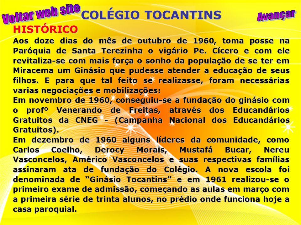 Aos 03 dias do mês de novembro de 1961 a Madre Redempta escreve demonstrando interesse em inserir o Ginásio Tocantins em suas obras, tornado-o assim parte da Assunção, a nova entidade mantenedora.