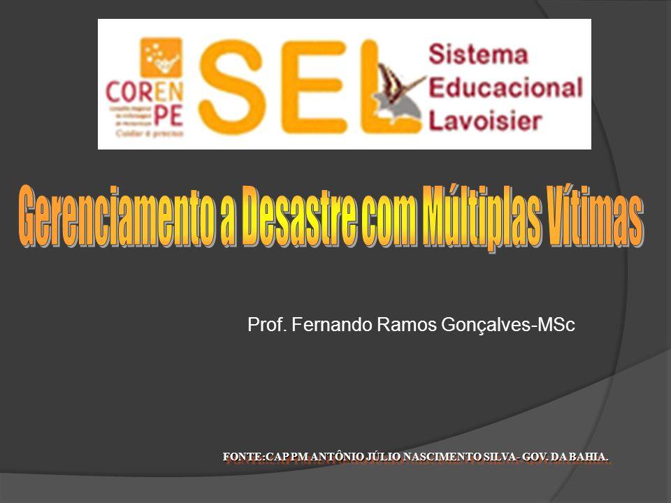 FONTE:CAP PM ANTÔNIO JÚLIO NASCIMENTO SILVA- GOV. DA BAHIA. Prof. Fernando Ramos Gonçalves-MSc