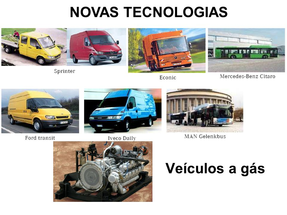 Veículos a gás NOVAS TECNOLOGIAS