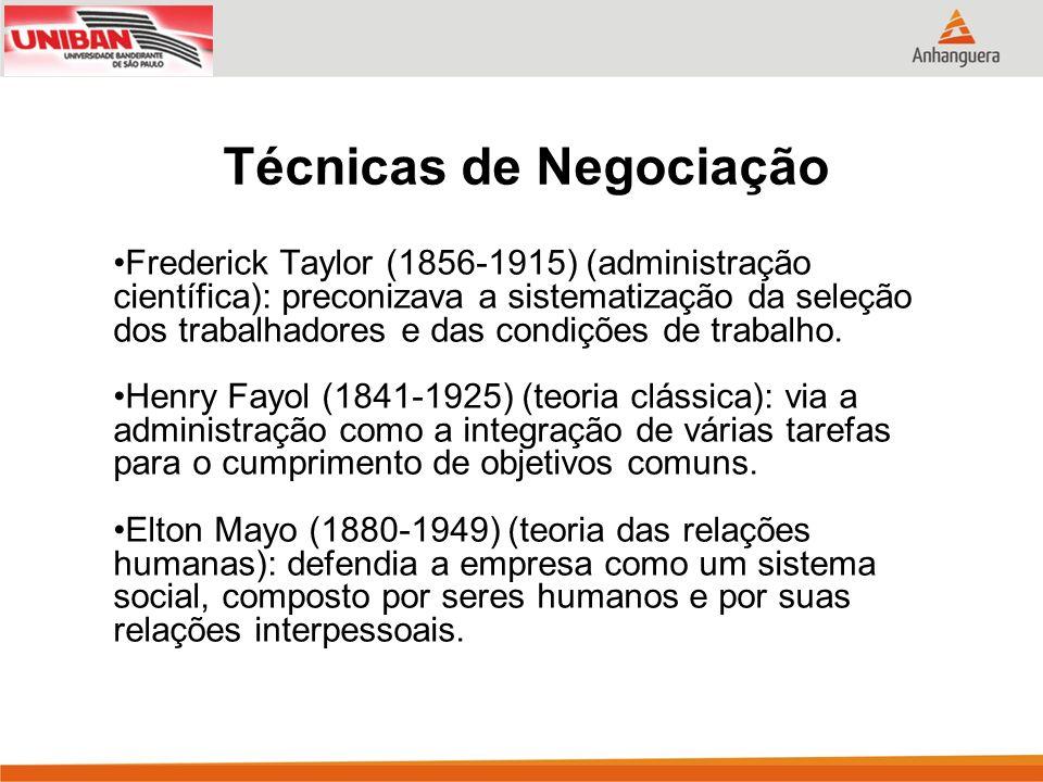Frederick Taylor (1856-1915) (administração científica): preconizava a sistematização da seleção dos trabalhadores e das condições de trabalho. Henry