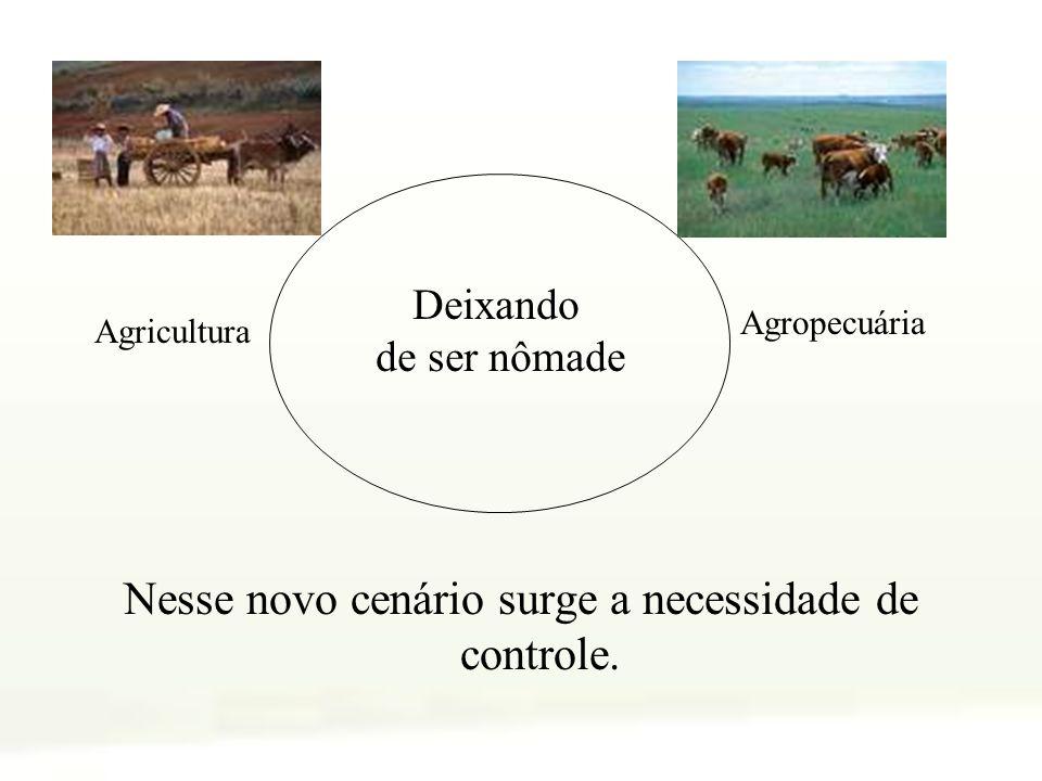 Nesse novo cenário surge a necessidade de controle. Deixando de ser nômade Agricultura Agropecuária