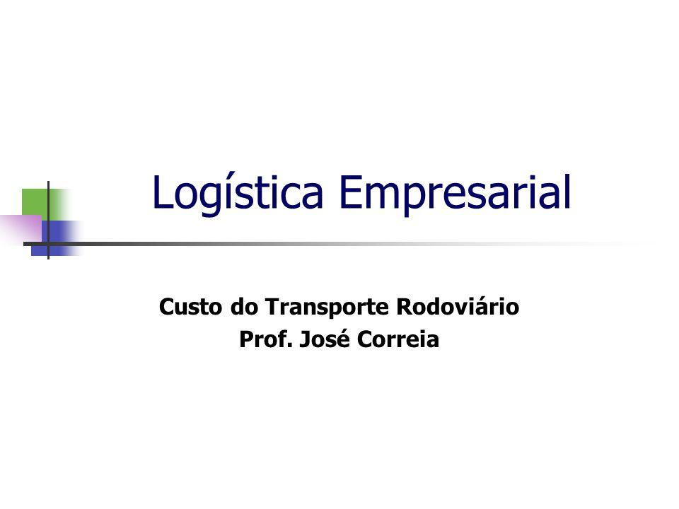 Logística Empresarial Custo do Transporte Rodoviário Prof. José Correia