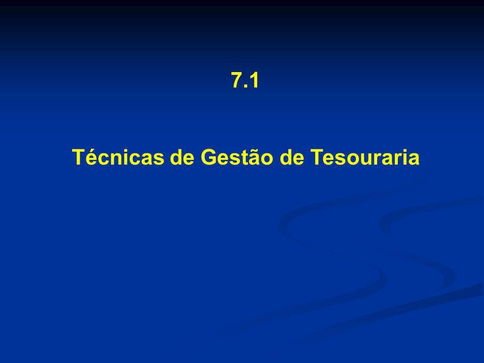 7.1 Técnicas de Gestão de Tesouraria