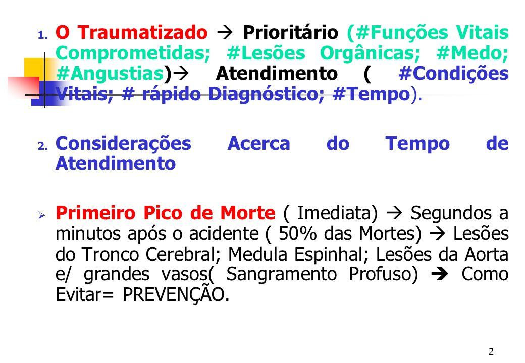 1 Prof. Fernando Ramos Gonçalves Atendimento Inicial ao Politraumatizado Disc. Enfermagem em Emergência e Pacientes Graves