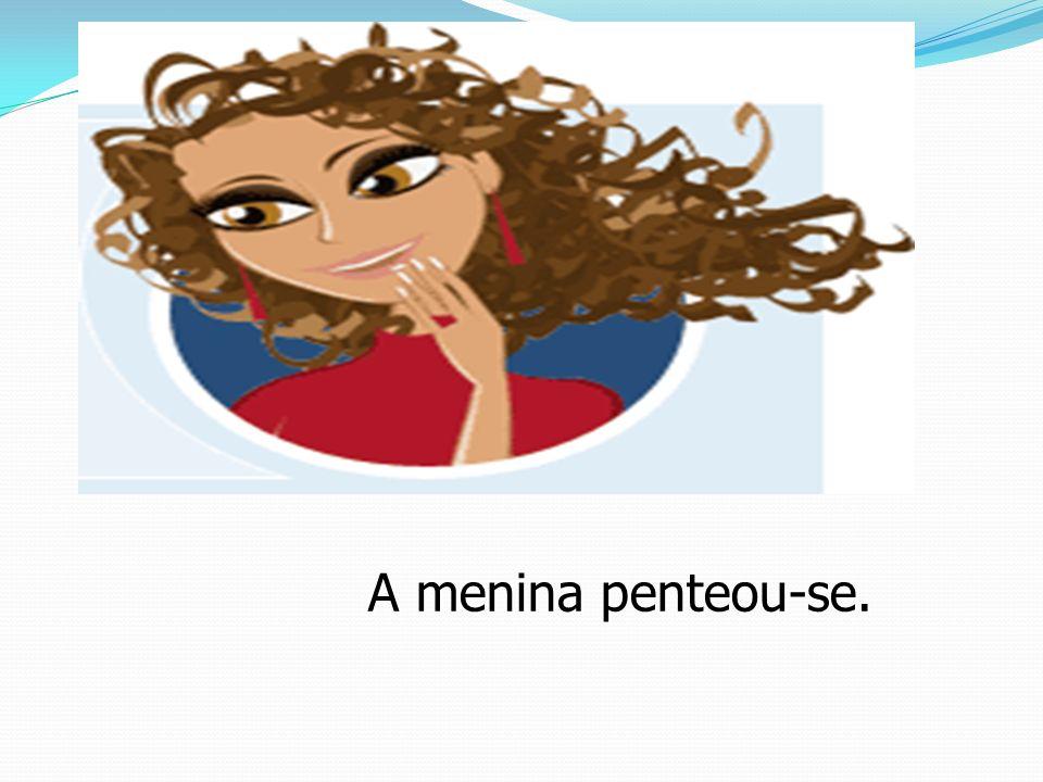 O verbo reflexivo é conjugado com os pronomes reflexivos me.te,se,nos,vos,se.