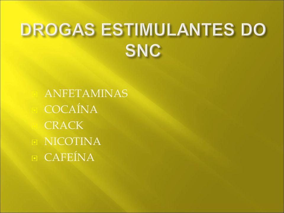 ANFETAMINAS COCAÍNA CRACK NICOTINA CAFEÍNA