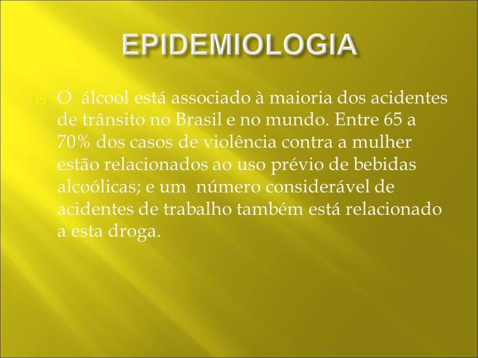 O álcool está associado à maioria dos acidentes de trânsito no Brasil e no mundo.