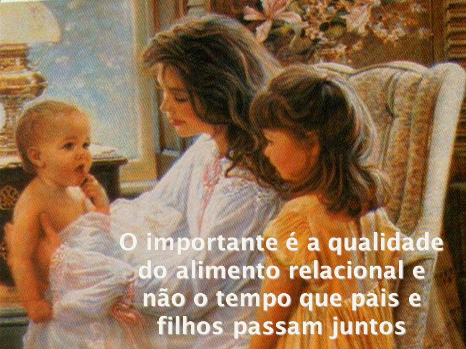 O importante é a qualidade do alimento relacional e não o tempo que pais e filhos passam juntos